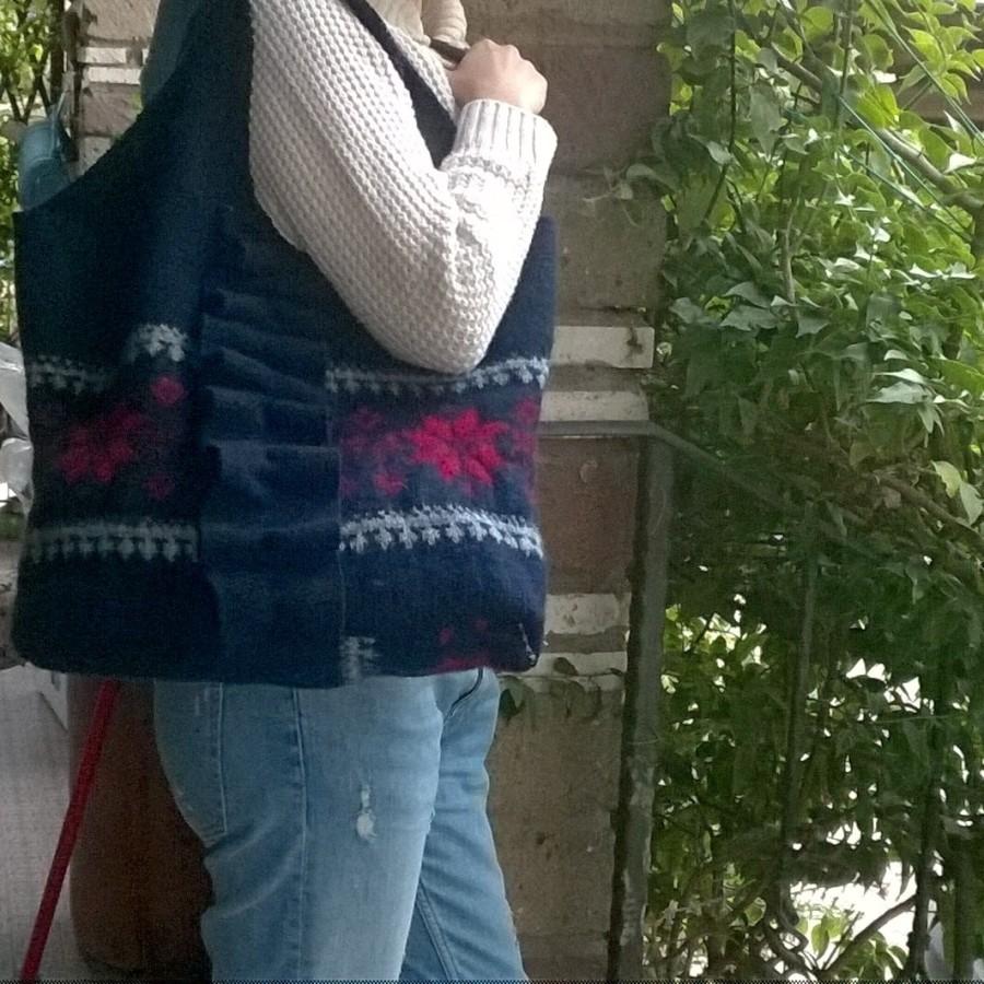 Come realizzare una borsa da un maglioneinfeltrito